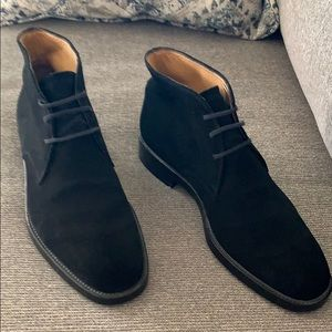 Men's Polacco Black Suede Chukka Boots